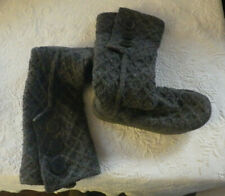 Ugg Dark Grey Slipper Sweater Boots Knit Size 7 Womens Cardy Shoes Uggs SN3066