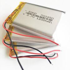 3 pcs 1200mAh 3.7V li po rechargeable Battery For MP3 MP4 Speaker Camera 703450