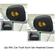New NHL Chicago Blackhawks Car & Truck Embroidered Headrest Covers Set Of 2