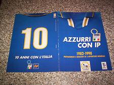 ALBUM figurine AZZURRI CON IP COMPLETO 1998 NO PANINI EDIS FLASH LAMPO MIRA RELI