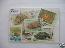TIMBRES ANIMAUX /TORTUES : 25 TIMBRES TOUS DIFFERENTS / STAMPS ANIMALS TURTLES