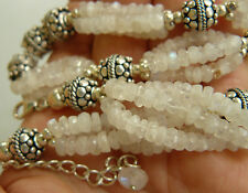 """Moonstone Sterling Silver Necklace, Quality adjustable 18 1/2-20""""Gorgeous"""