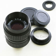 25mm f/1.4 CCTV C 16mm Lens for Nikon 1 N1 Mount J1 J2 J3 V1 V2 S1 + macro ring