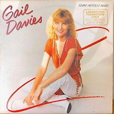 GAIL DAVIES: Givin' Herself Away-NM1982LP EMBOSSED COVER PROMO ALBERT LEE