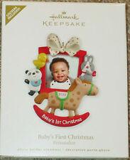 NEW 2012 Hallmark Baby's First Christmas Personalize Keepsake Ornament NIB