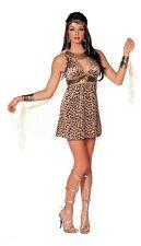 Sphinx Minx Costume Leopard Print Dress Net Cape Wristlets Headpiece L/XL 7784