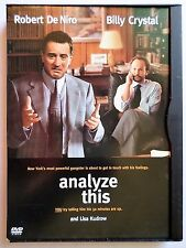ANALYZE THIS (1999 DVD) RATED R COMEDY ROBERT DE NIRO  BILLY CRYSTAL FULL SCREEN