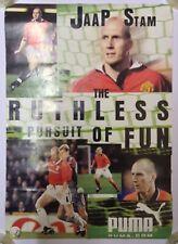 Jaap Stam Rare Manchester United Holland Puma Promo Poster 1999 Treble Season