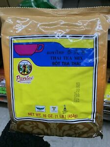Pantai Thai Tea Leaves Mix (Pantai) Thai Iced Tea 1 lbs 16oz 454g Bag