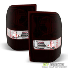 2001-2011 Ford Ranger Red Smoke Tail Lights Brake Lamps Left+Right Aftermarket