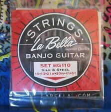 La Bella Banjitar/Banjo-Guitar String  Set/ BG-110 Silk N Steel/ LOOP END/