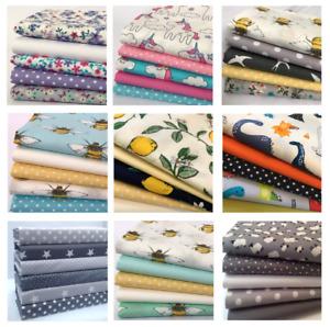 Fat Quarter Fabric Bundles, Animals 100% Cotton Children's ideal face coverings