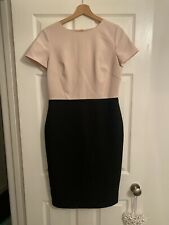 M&S Two Toned Colour Block Work Dress Size 12