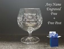 Personalised Engraved Bohemia Crystal Brandy Glass Best man Wedding, Dad Gifts