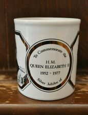 Queen Elizabeth II Silver Jubilee (1952-1977) Commemorative Mug - Staffordshire