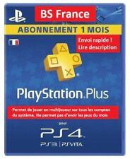 Abonnement 1 MOIS PlayStation PS Plus pour PS4 PS3 PS Vita (no code, lire desc.)