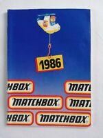 Matchbox Catalogue - UK Edition - 1986