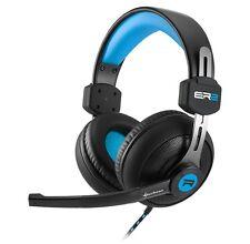 Sharkoon rush er2 stéréo casque écouteurs noir/bleu support de tête Gaming-NEUF