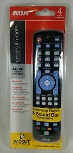 RCA RCRN04GZ 4 Device Universal Remote Control, Backlit Keypad Easy Program NEW