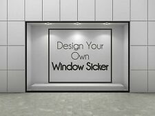 Personalised Shop Window Decal Sticker Business Logo Opening Times Text