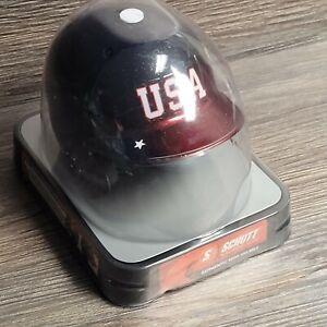 Schutt USA Red White Blue Mini Helmet Softball Helmet NOS (Autograph Fodder)
