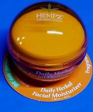 Hempz Daily Herbal Facial Moisturizer with SPF 30, Fragrance-Free, 1.4 Ounce