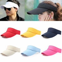 Sun Visor Outdoor Golf Cap Headband Women Summer Sports Tennis Solid Hat Anti-UV