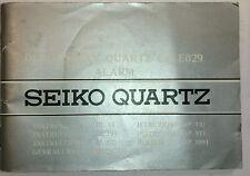 Vintage Seiko Duo-Display Cal. E029 Watch Manual
