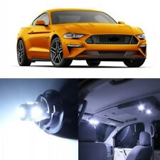 9 x White LED Interior Light Package For 2015 - 2019 Ford Mustang + PRY TOOL