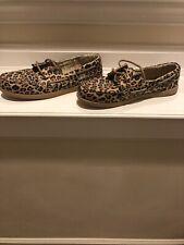 Bobs Leopard Boat Shoe Size 9 New
