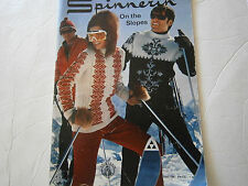 Vintage 1969 Spinnerin On The Slopes Hand Knit Pattern Book Ski Cable Sweater