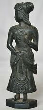 RARE ANTIQUE PERSIAN QAJAR ISLAMIC CARVED WOOD SOLDIER FIGURE