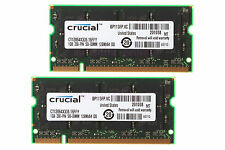 Crucial 2X 1GB PC2700S 333MHZ DDR SO-DIMM Unbuffered For RAM Notebook CPU Memory