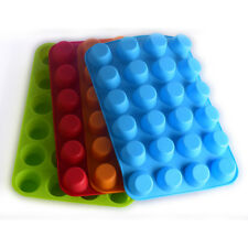Muffin Silicone Cupcake Pan-24 Cups Mold Baking Tray Reusable Non-Stick Bakeware