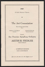 San Francisco Symphony Orchestra-Arthur Fiedler-Conduct-1960 Program-Advertising