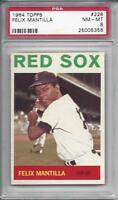 1964 Topps baseball card #228 Felix Mantilla, Boston Red Sox graded PSA 8 NMMT