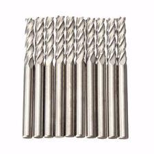 """10x Carbide CNC 4 Flute Spiral Bit End Mill Cutters 1/8"""" Shank 15mm Blade Leng"""