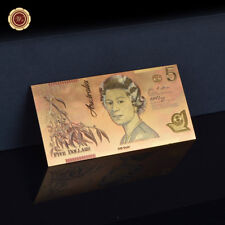 WR 2002 Australian 5 Dollars Note Gold Foil Novelty Money Banknote Rare Collect