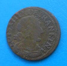 Louis XIII double tournois 1638 B Rouen CGKL 432 R1 - PORT OFFERT EN LETTRE