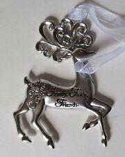 Bd Family Faith Friends Merry Reindeer Christmas Ornament Ganz Car Charm