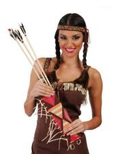 Lote 6 bolsos bolsas con 2 flechas para disfraz indio india