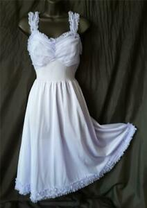 PIN-UP 1950s Vintage GOTHAM Ruffled Lavender Mini NEGLIGEE NIGHTGOWN - sz 34