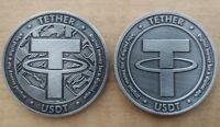 Commemorative & Collectible USDT Tether Virtual Crypto Currency Physical Coin