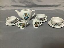 Vintage Walt Disney Productions Alice In Wonderland Toy China Tea Set