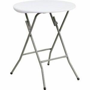 Flash Furniture DAD-YCZ-80R-1-SM-GW-GG Folding Table - White