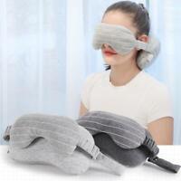 1 * Reise-bequemes Körper-Nackenkissen 2 in 1 mit Augenmasken-tragbarem Kissen v