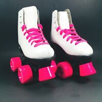 Kids Riedell RW Classic High Top Wave Girls Quad Roller Skates Youth Size 12
