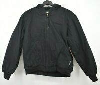 Wolverine Womens Houston Hooded Zip Canvas Quilted Jacket Long Sleeve Ribbed $80