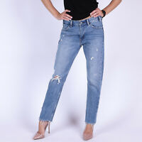 Levi's 505 Cropped blau distressed Damen Jeans DE 36 / US W28