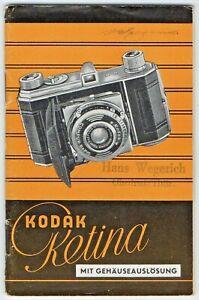 Kodak Retina Gebrauchsanleitung Dt. Ausgabe + Einstelltabellen Wegerich Thür.